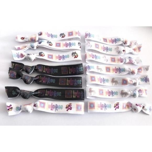 Bundle of 10 NEW LuLaRoe Unicorn Elastic Hair Ties ad2ae742184